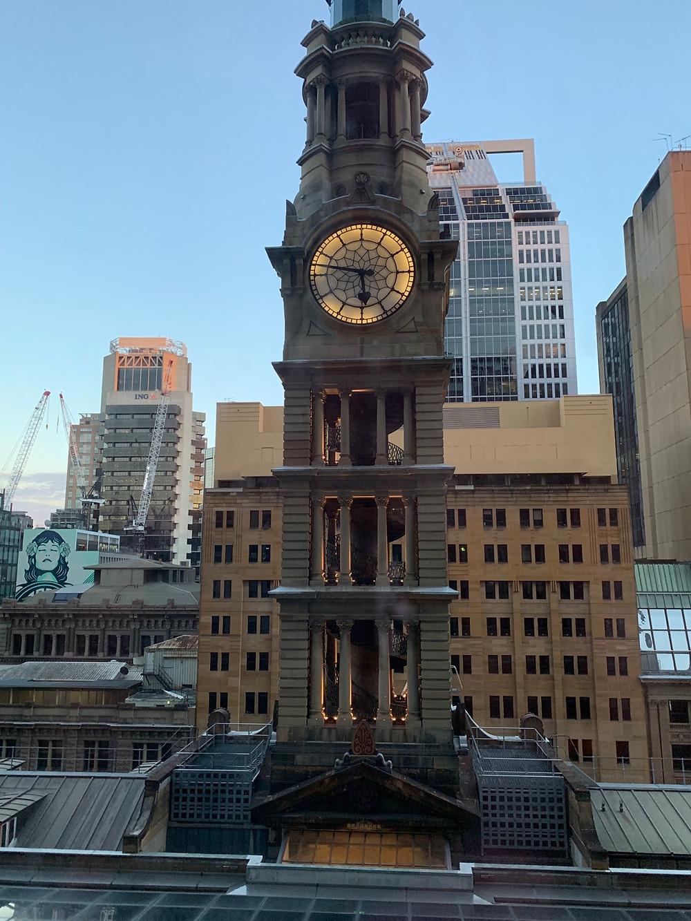 Hotel Window view of Sydney from the Sydney Westin Hotel