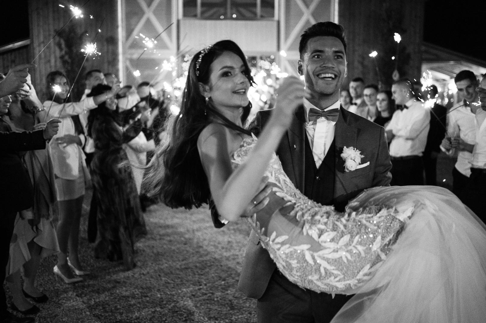 Zimne ognie podczas wesela w Zygmuntówce Graala