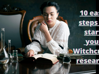10 Easy steps to start your Witchcraft research.
