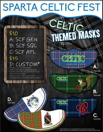 Support the Festival and Show your Celtic Pride