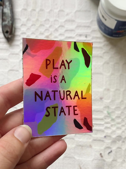 Holographic Play Sticker