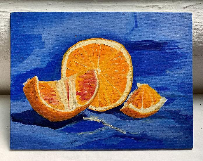 Orange with Blue