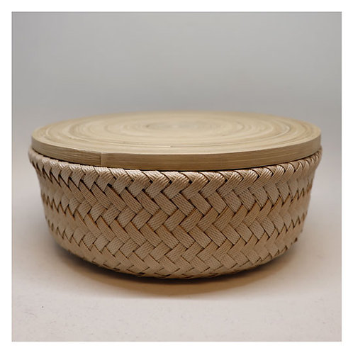 Bamboo Korb mit Deckel S hell