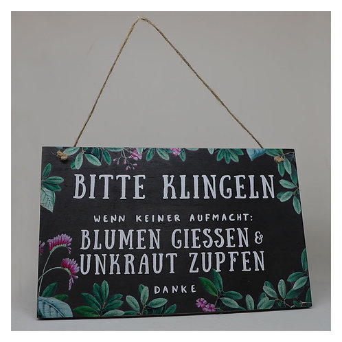 """Gartenschild """"Bitte klingeln"""""""