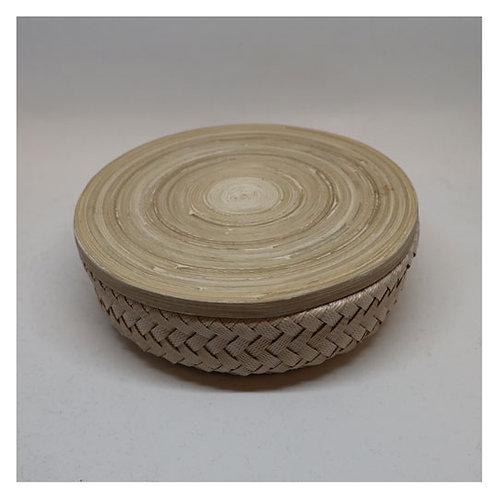 Bamboo Korb mit Deckel XS hell