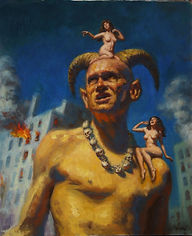 Dave Lebow Satans Muse 2012 oil on canva