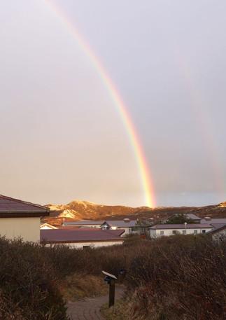 Regenbogen über dem Klappholttal