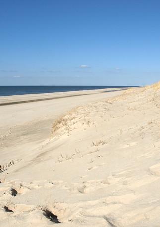 Rechts ein leerer Strand Richtung List