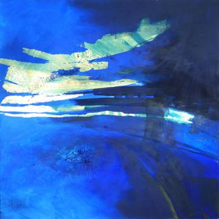 Blau auf Gold III