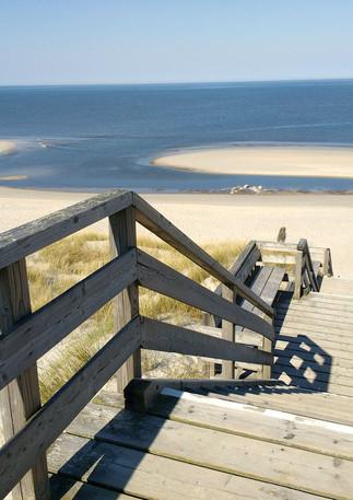 Dünenweg hinunter zum eigenen Strand....