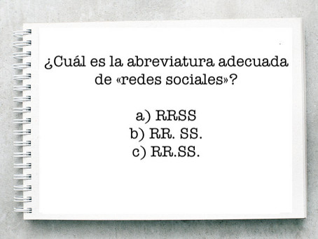 ¿Cuál es la abreviatura adecuada de «redes sociales»?