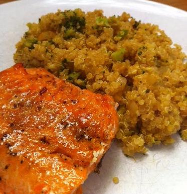 Salmon and Broccoli Quinoa