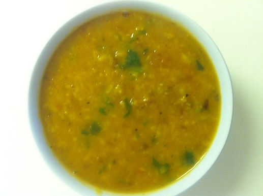 Pumpkin, Sweet Potato and Cumin Dhal Soup