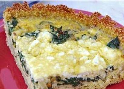 Spinach & Feta Quiche with Quinoa Crust