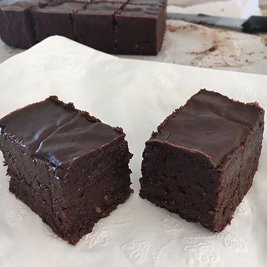 No Bake Flourless Brownies