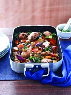 Garlic & Rosemary Chicken Tray Bake