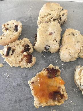 Gluten free date scones
