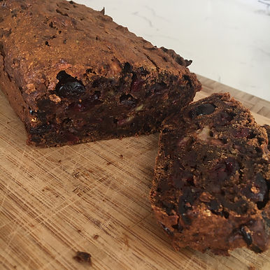 Carrot and cranberry date loaf