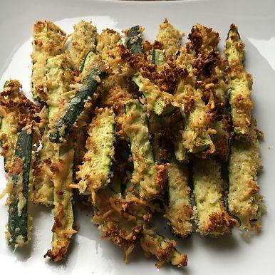 Crumbed zucchini