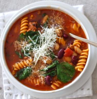 Tomato, Bean & Pasta Soup