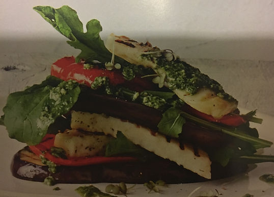 Eggplant & Halloumi Stack