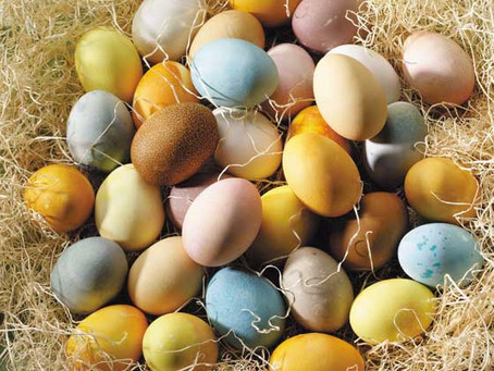 Colouring Easter eggs - the natural way