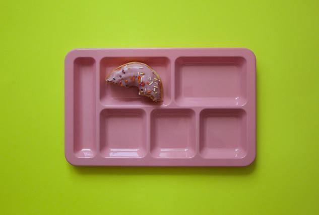 hay tray + donut