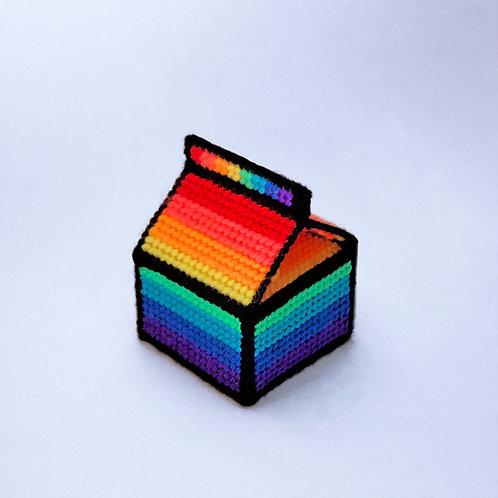 rainbow milk paperweight