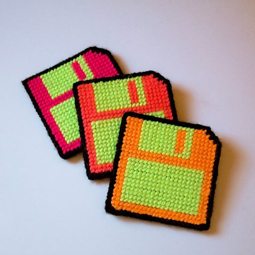 "3½"" floppy disk coasters"