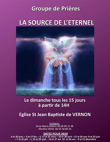 affiche groupe LA SOURCE DE L ETERNEL-pa