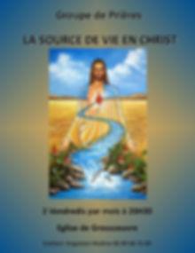 affiche groupe LA SOURCE DE VIE EN CHRIS
