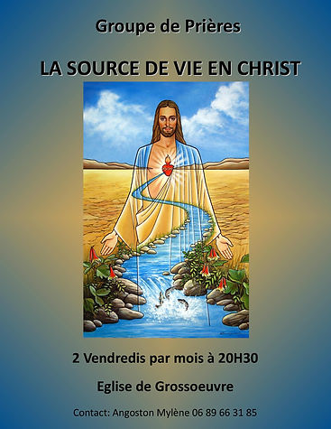 affiche groupe LA SOURCE DE VIE EN CHRIS