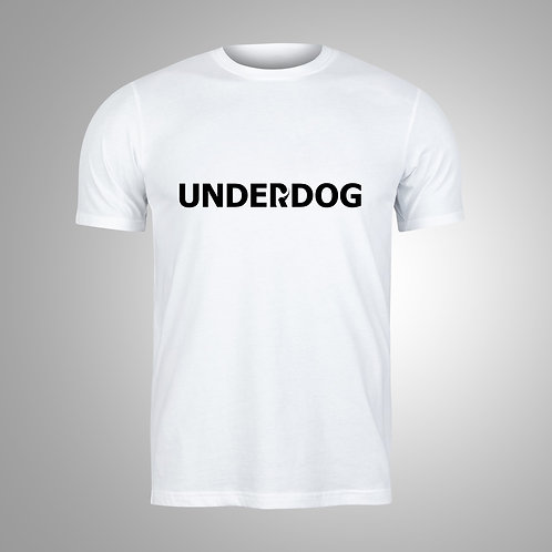 UNDERDOG White/Black T-Shirt