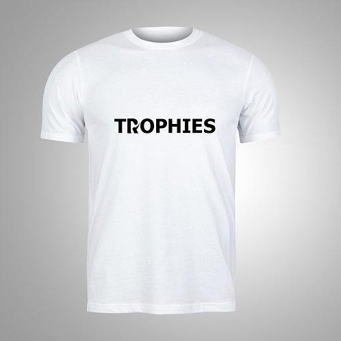 TROPHIES White/Black T-Shirt