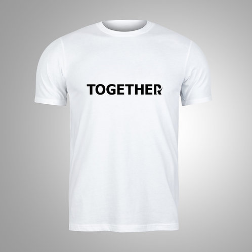TOGETHER White/Black T-Shirt
