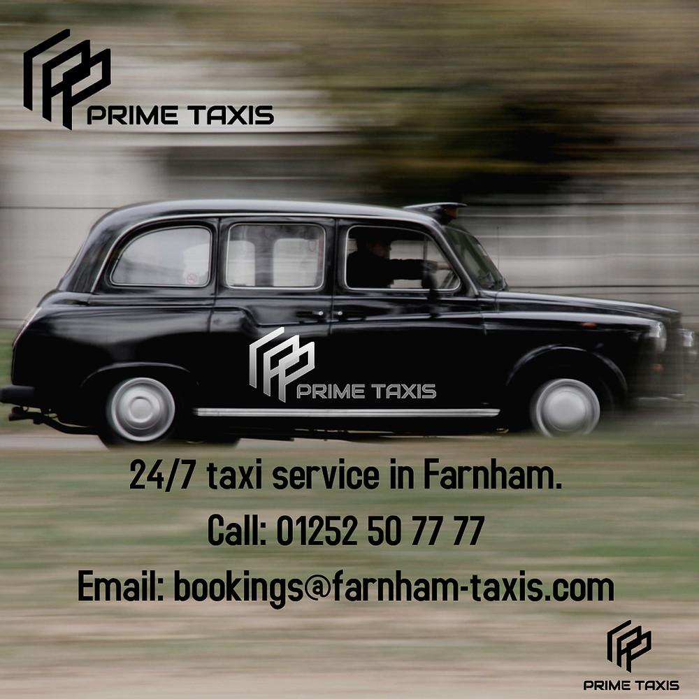 Prime Taxis Farnham provides taxis from West Street, Farnham.