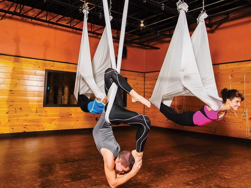 aeriel yoga room