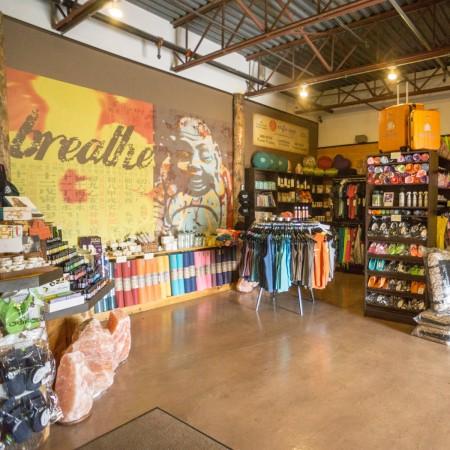 yoga studio retail area