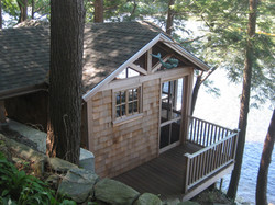 waterfront cabin exterior deck