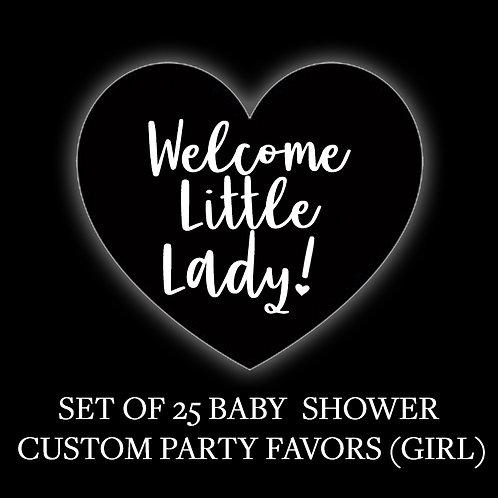 25 CUSTOM GIRL BABY SHOWER PARTY FAVORS