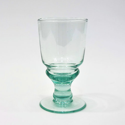 Recycled Glass Goblet Wine Glass   Clear   Set