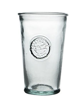 "Recycled Glass Tumbler | 300ml Clear | ""Authentic"" Stamped Set"