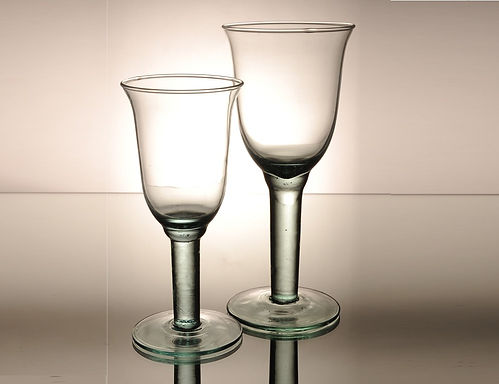 """Recycled Glass Wine Glasses   Clear   """"Campanillo"""" Set"""