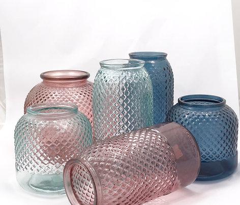 "Recycled Glass Vase  |  24cm ""Diamond"""