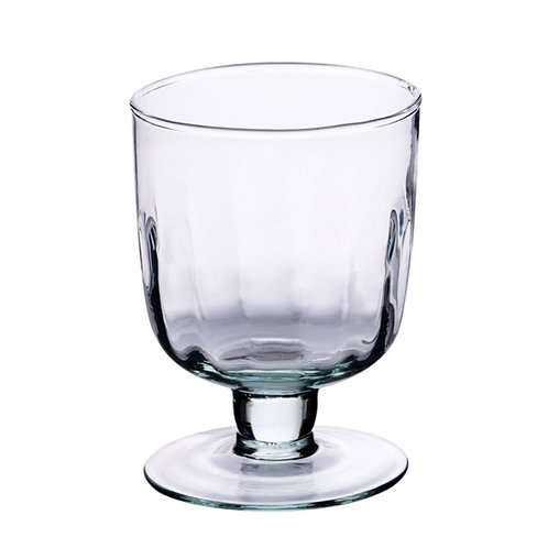 Recycled Glass Fluted Wine Glass | Clear | Set
