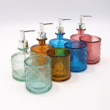 """Recycled Glass Bathroom Set 