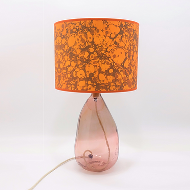 Recycled Blown Glass Table Lamp with Choice of Flex | 42cm Pink