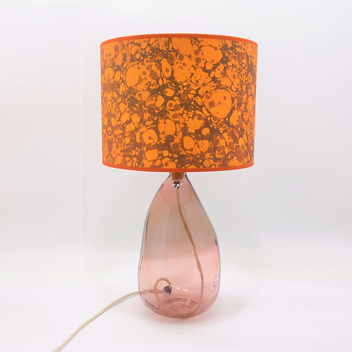 recycled glass simplicity lamp base pink