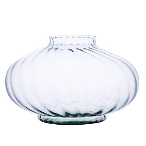 Recycled Glass Fluted Vase  |  Clear