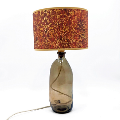 Recycled Blown Glass Table Lamp with a Choice of Flex | 41cm Smoke